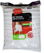 Hanes 5 pair White Tagless Boxers Comfort Flex Waist Size 2XL Cotton Polyester
