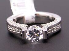 Gelin Abaci 14k White Gold Round Diamond Engagement Ring Semi Mounting TR-209