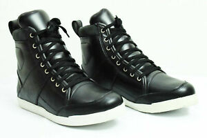 Profirst Mens Motorcycle Leather Boots Sports Causal Touring Waterproof Sneaker