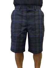 Kirkland Signature Men's Performance Golf Shorts - Black/Blue Plaid