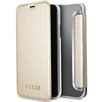 Genuine GUESS Iridescent Collection Book Case for iPhone X in Gold