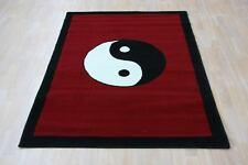 Quality Red Black Chinese yin yang Rug 120cm x 170cm Chinese Print Rug