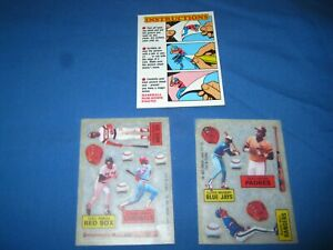 1985 baseball rubdown photos with instructions / list of players