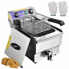 More details for 10l electric deep fryer fat chip commercial restaurant stainless steel w/ timer