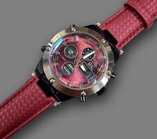 Orologio Polso YK B202 Uomo Analogico Digitale Cronografo Data Sveglia Rosso lac