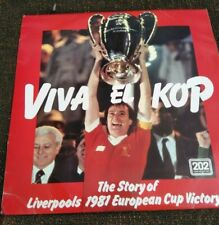 1981 EUROPEAN CUP FINAL LP LIVERPOOL v REAL MADRID VIVA EL KOP