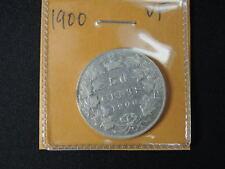 1900 50 Cent Coin Canada Victoria Fifty Cents .925 Silver VF Grade