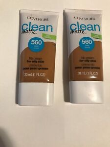 Lot of 2, Covergirl Clean Matte BB Cream For Oily Skin - 560 Deep