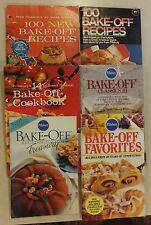 6 PILLSBURY BAKE OFF COOKBOOKS FAVORITES CLASSICS TESTED RECIPES 60'S & 80'S
