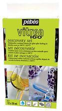 Pebeo Discovery Set 12 x 20 ML AUTOMATICO 160 forno Bake lavaggio sicuro in vetro vernice