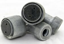 A pair of 2 way right angle radio/radar plugs (GB9)