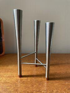 Robert Welch Old Hall Triple Candle Holder, Campden, 1960's, Vintage Modernist