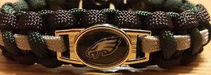 NFL Philadelphia Eagles Paracord Bracelet with Charm  (Cobra Weave)