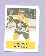 BOBBY ORR HOF BRUINS HOCKEY STAMP #4 VINTAGE NHL ODDBALL CANADIAN CARD RARE LOOK