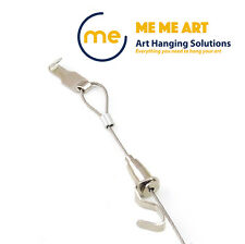 2 Sets Art Hanging Hooks Rail Hanging Kit - with Looped Steel Wire & Hooks