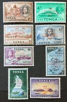 Tonga. Centenary of Emancipation. OPTD. Stamp Set. SG120/27. 1962. MNH. AF466