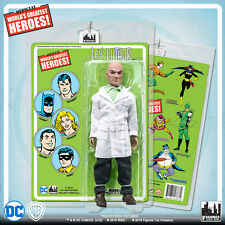 Official DC Comics Lex Luthor 8 inch Action Figure on Mego Style Retro Card