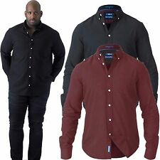 Mens D555 ALASTAIR Long Sleeve Button Down Oxford Shirt Big King Size 2XL -6XL