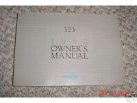 1992 Mazda 323 Owners Manual