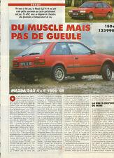 Essai Catalogue MAZDA 323 4x4 1600 GT Année 1986