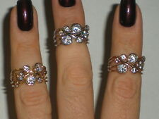 ladies 14k yellow, white and gold rings with CZ's right hand ring