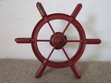 "Vintage, Maritime, Cast Iron & Wood 16"" Boat Wheel"