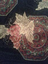 Mens Necktie Navy Purple and Gold Italian Silk Stuart Hughes Grape Pattern Tie