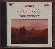Weber. Symphonies 1 & 2. John Georgiadis. Turandit,  Queensland.   CD z1.132