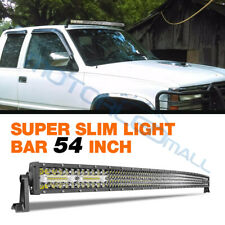 "54""Inch 1188W Quad Row Curved LED Light Bar Spot Flood Combo Offroad Driving FOG"