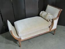 High End Empire Style Chaise by Meyer Gunther Martini; Moss Green Mohair