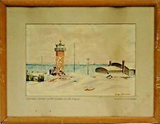 Gagen U.S.N.R. (American, Active 1943-1944 ) Original WWII Painting Pacific War