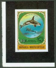Mongolia 1980 80m Killer Whale imperf proof