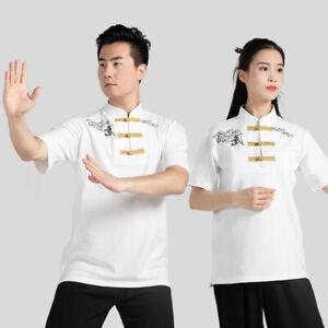 Martial Arts Tai Chi T-Shirt Shirts Tops Kung Fu Wingchun Training Clothes Print