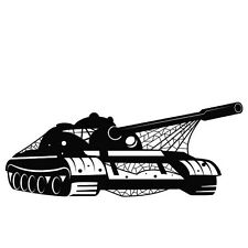 ARMY TANK WITH NETTING OVER CAR DECAL STICKER
