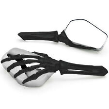 Black Chrome Skull Skeleton Mirrors For Harley dyna softail sportster touring