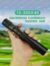 10-300x40mm Super Zoom HQ Portable Monocular Telescope Eyepiece For Hunting