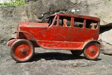 RARE ALL-ORIGINAL 1920's TURNER TOYS (DAYTON/SCHIEBEL) PRESSED STEEL SEDAN