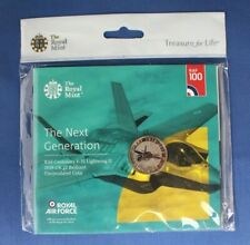 """2018 Royal Mint £2 coin pack """"RAF Centenary - Lightning"""" Factory Sealed"""