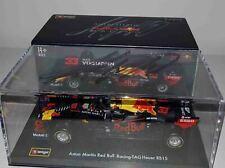 F1 Max Verstappen signed 1/43 Red Bull RB15 car 2019 Bburago Formula 1