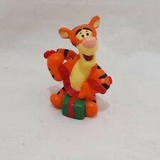 "Tigger Disney Merry Miniatures Hallmark Figurine Winnie the Pooh Christmas 1"""