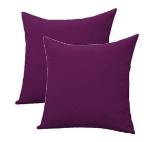 100 % Cotton Cushion Cover Purple Color Square Shape Cushion Cover Set of 2