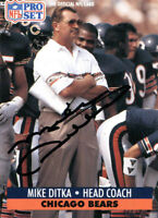 Mike Ditka Autographed 1991 Pro Set Card
