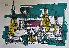 Originaldrucke (1950-1999) mit Architektur-Motiv und Siebdruck-Technik