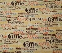 Daily Grind BTY J Wecker Frisch Quilting Treasures Coffee Words