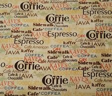 Daily Grind BTY J Wecker Frisch Quilting Treasures Coffee Words