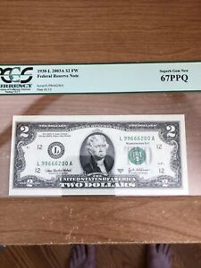 2 Dollar......2003A $2 FW Federal Reserve Note Plate#E3/2