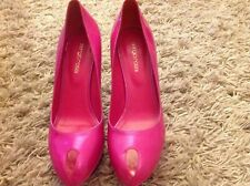 SERGIO ROSSI Fuchsia Patent Leather Pip Toy Court Heel Shoes 39 UK 6 BNWT