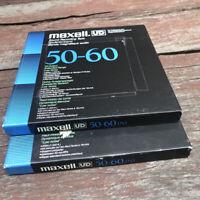 RARE Tape Reel Sound Recording Bande Magnetique Audio Maxell XLI 50-60 Japan X2