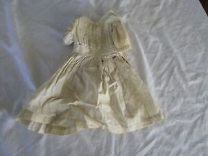 Antique Bisque Head Baby Doll Pleated Dress