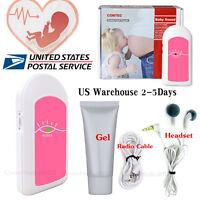 Pocket Fetal Doppler Prenatal Heart Monitor Baby Heart Beat Fetal Heart Rate+GeL